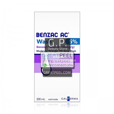BENZAC WASH 5% FOR CLEANING | 200ml/6.76 fl oz