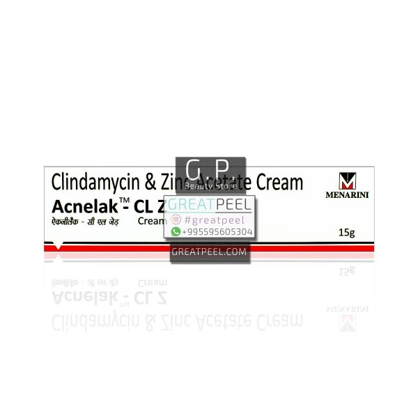 Acnelak-CL Z Clindamycin 1% & Zinc Acetate 1% Cream| 15g/0.53oz